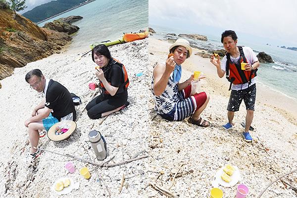 慶佐次川マングローブカヌー 海でのんびりタイム